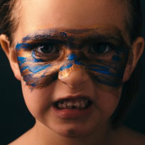 training Attachment for Foster Carers 1 day - angry child with painted face