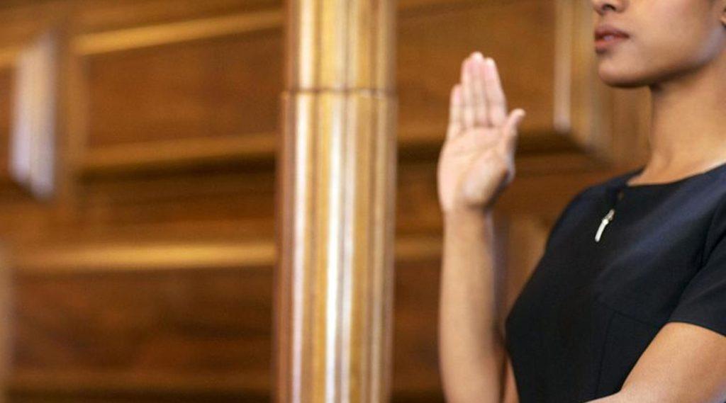 training Court Skills - woman in court